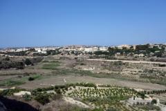 Utsikt över nordöstra delarna av Malta från Mdina.