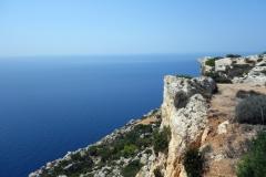 Utsikten från Ta' Dmejrek, 253 meter över havet, Dingli Cliffs, Dingli.