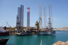 Hamnområdet (Grand Harbour) från Senglea.