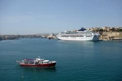 Utsikt mot Valletta från La Guardiola, Senglea.