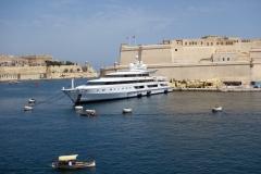 Lyxjakten Indian Empress, Vittoriosa Yacht Marina, Vittoriosa.