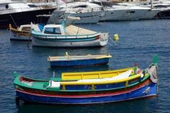 Traditionell maltesisk båt, Vittoriosa Yacht Marina, Vittoriosa.