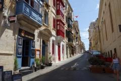 Vacker arkitektur längs Triq P. Boffa, Vittoriosa.