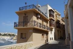 Vackra bostäder i Vittoriosa.