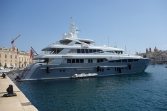 Lyxjakt, Vittoriosa Yacht Marina, Vittoriosa.