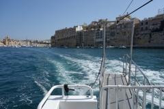 På färjan från Vittoriosa till Valletta.