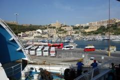 Hamnen i Mġarr på Gozo.