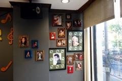 Gammal nostalgi i restaurangen på Rosas Garden Hotel, Ermita, Manila.