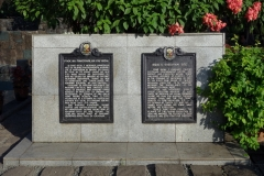 Platsen där José Rizal blev avrättad, Rizal Park, Manila.