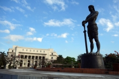 Lapu Lapu-statyn, Teodoro F. Valencia Circle, Ermita, Manila.
