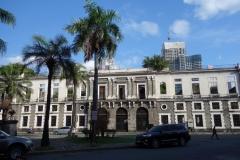 Aduana building, försummad spansk kolonialarkitektur, Intramuros, Manila.