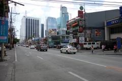 Gatuscen längs Makati Ave, Makati, Manila.