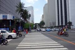 Korsningen Makati Ave och Buendia Ave, Makati, Manila