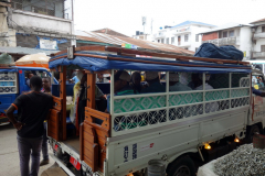 Dalla-Dalla 118 mot Matemwe med avgång en bit från Darajani market, Stone Town, Unguja.