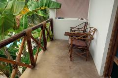 Balkongen till mitt rum på Kiganja Retreat, Matemwe, Unguja.
