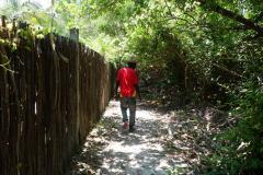 Vi bestämde oss för att gå till byn tillsammans. Matemwe Beach, Unguja.