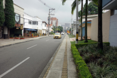 Carrera 43C alldeles vid mitt boende, Hotel Loyds, Poblado, Medellín.