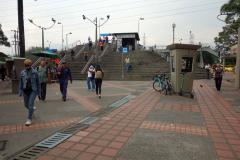 Trapporna upp till station Poblado, Medellín.