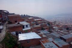 Utsikten mellan station Acevedo och station Arví, Medellín.