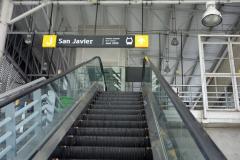 Station San Javier, slutstation på linje B från San Antonio, Medellín.