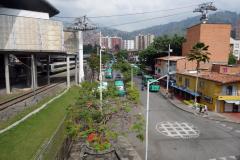 Utsikt från station San Javier, slutstation på linje B från San Antonio, Medellín.