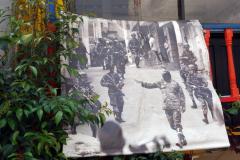En bild av Comuna 13 då våldet dominerade stadsdelen.