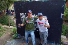 Stefan och Flako, Comuna 13, Medellín.