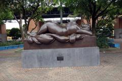 Fernando Botero-skulptur, Parque San Antonio, Medellín.