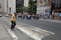 Gatuscen downtown Medellín.
