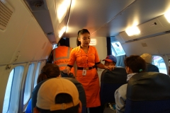 Ombord på Summit Air flight SMA401 mellan Katmandu och Lukla.