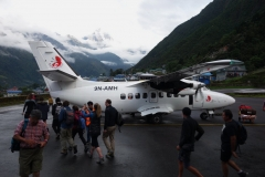 Planet som tog mig till Lukla. Summt Air flight SMA401.