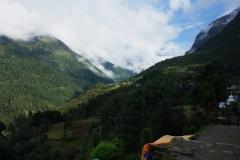 Landskapet mellan Lukla och Phakding.