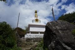 Stupa längs leden mellan Lukla och Phakding.