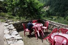 Läxläsning i Khumbu-dalen.