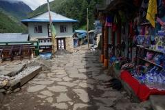 På väg in i byn Phakding.