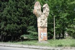 Monument som jag inte vet betydelsen av en bit norr om centrala Mtskheta.