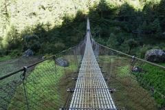 Hängbro mellan Monjo och Jorsale.