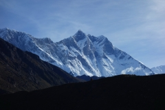 Lhotse-massivet från Orsho.