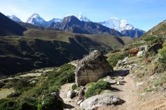 Leden mellan Orsho (4190 m) och Somare (4010 m).