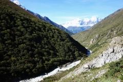 Leden mellan Somare (4010 m) och Pangboche (3930 m).