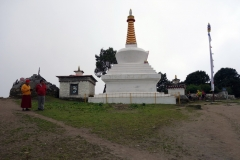 Stupan vid klostret i Tengboche.