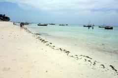 Stranden i Nungwi på den nordligaste delen av ön Unguja.