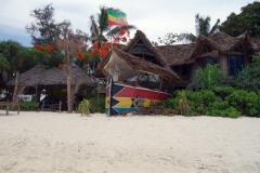 Restaurang längs stranden i Nungwi på den nordligaste delen av ön Unguja.