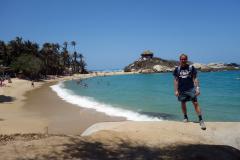 Stefan på Cabo San Juan del Guia, Parque Nacional Natural Tayrona.