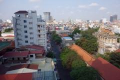 Utsikten från restaurangen vid frukosten högst uppe i Mondulkiri Boutique Hotel, Phnom Penh.