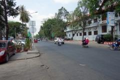 Gatuscen i norra delen av Phnom Penh.