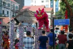 Lion Dance, kinesiskt nyårsfirande, Phnom Penh.