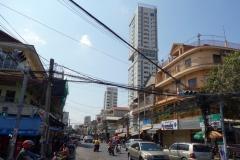 Gatuscen nära Russian Market, Phnom Penh.