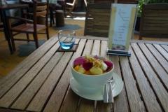 Dessert på Eleven One Kitchen, området kring Russian Market, Phnom Penh.