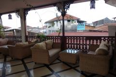 Takterrassen på Spice Palace Hotel, Stone Town (Zanzibar Town), Unguja.